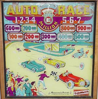 1956 Gottlieb Auto Race pinball super kit
