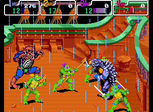 boss tokka razhar jeu tortues ninja turtles in time super nintendo