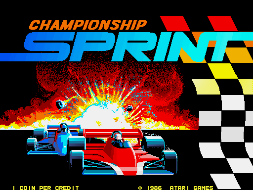 Championship Sprint Videogame by Atari Games