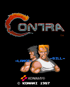 Contra - Title screen image