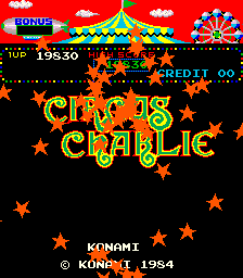 Circus Charlie - Title screen image