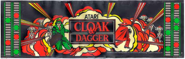 Cloak & Dagger Arcade Marquee For Reproduction Backlit Sign Arcade Gaming Collectibles