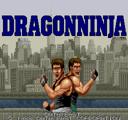 Dragon Ninja - Title screen image