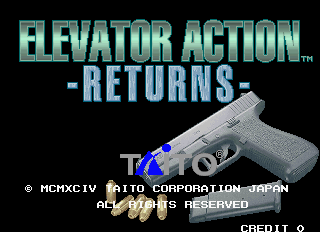 Elevator Action Returns - Title screen image