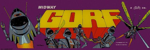 """GORF ARCADE MARQUEE  6/"""" x 18/"""" Aluminum Sign"""