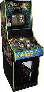 2-1984 BALLY FACTORY ORIGINAL GRANNY AND THE GATORS PINBALL FLYER/'S