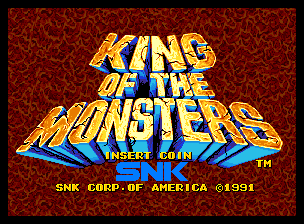 Image result for king of the monsters title screen