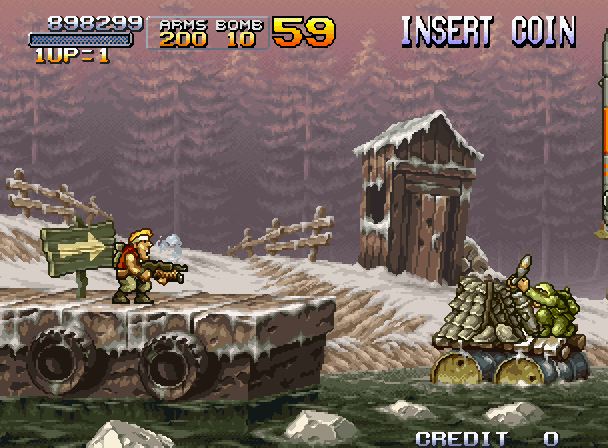Metal Slug X - Title screen image
