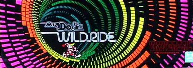 Mr Do/'s Wild Ride Arcade FLYER Original NOS Video Game Art Sheet Universal 1984