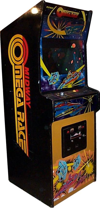 omega race videogame by midway manufacturing co