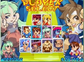 Pocket Fighter Videogame By Capcom