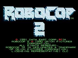 RoboCop 2 - Title screen image