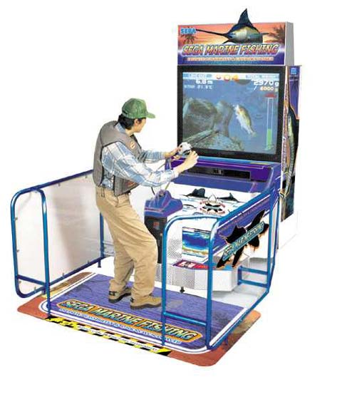 Sega marine fishing videogame by sega for Fish arcade game