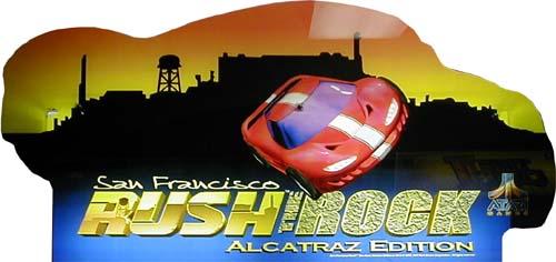 """San Francisco Rush 2049 Arcade Marquee 29/"""" x 10.5/"""""""