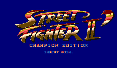 Street Fighter Ii Champion Edition Red Wave Videogame By