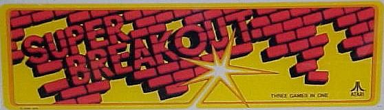 original Atari SUPER BREAK OUT Arcade Video Game flyer