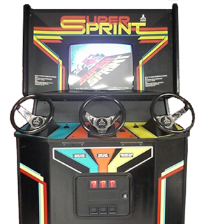 Super Sprint Videogame By Atari Games