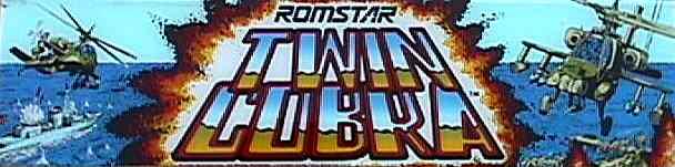 Romstar Twin Cobra Arcade Game Marquee Plastic Arcade Gaming