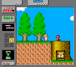 Wonder Boy - Monster Land - Title screen image