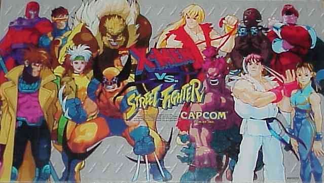 X Men Vs Street Fighter Videogame By Capcom