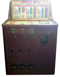 Triple Draw Bell Slot Machine By Bally Manufacturing Co