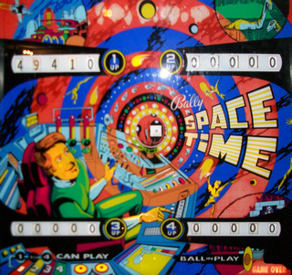 Space Time Pinball By Bally Manufacturing Co