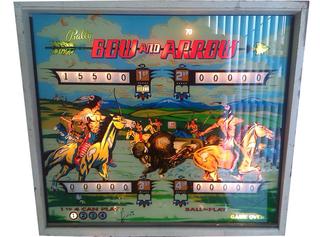 bally bow and arrow pinball machine