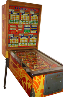 Dixieland Pinball By Bally Manufacturing Co