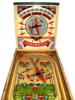 Paramount Pinball By Bally Manufacturing Co
