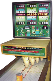 Palos Verde 1970 United Puck Bowler Manual /& Schematic