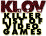 Killer List of Videogames Logo